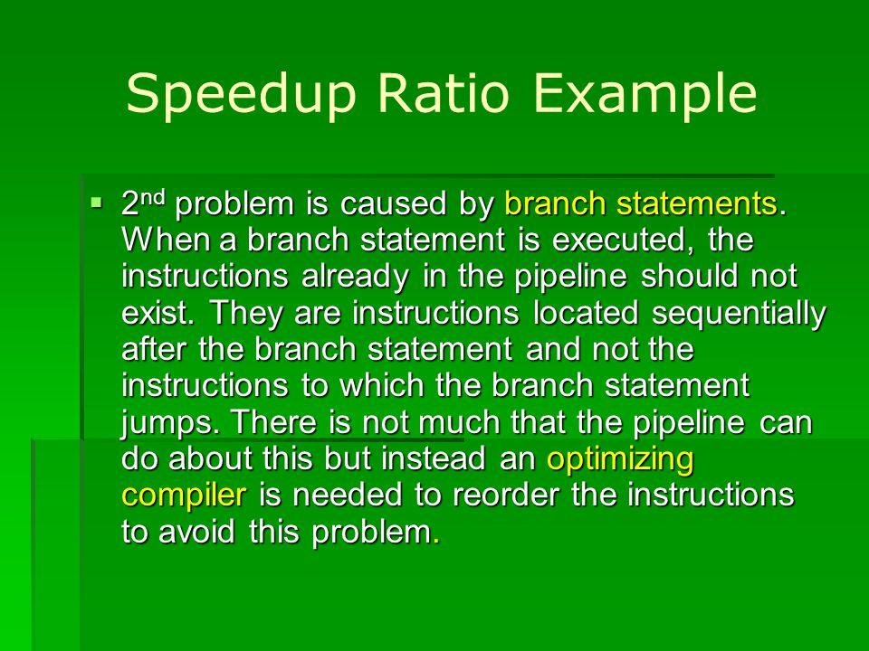 Speedup Ratio Example