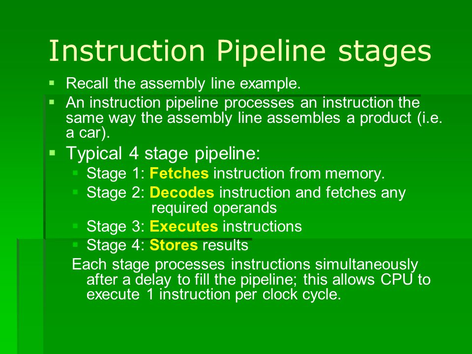 Instruction Pipeline stages