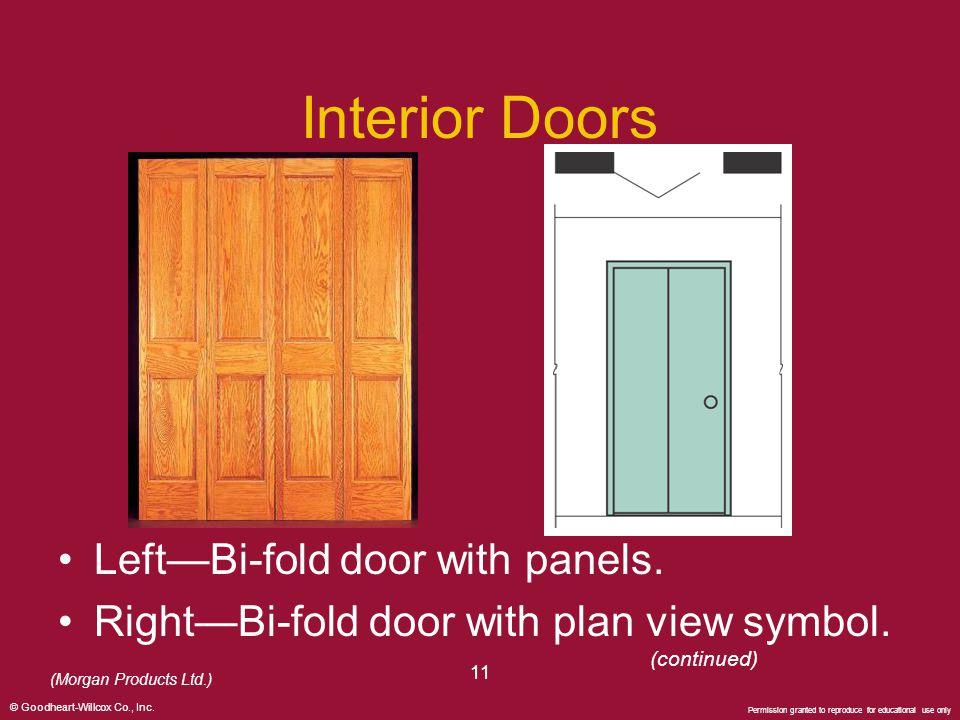 Interior Doors Left—Bi-fold door with panels.