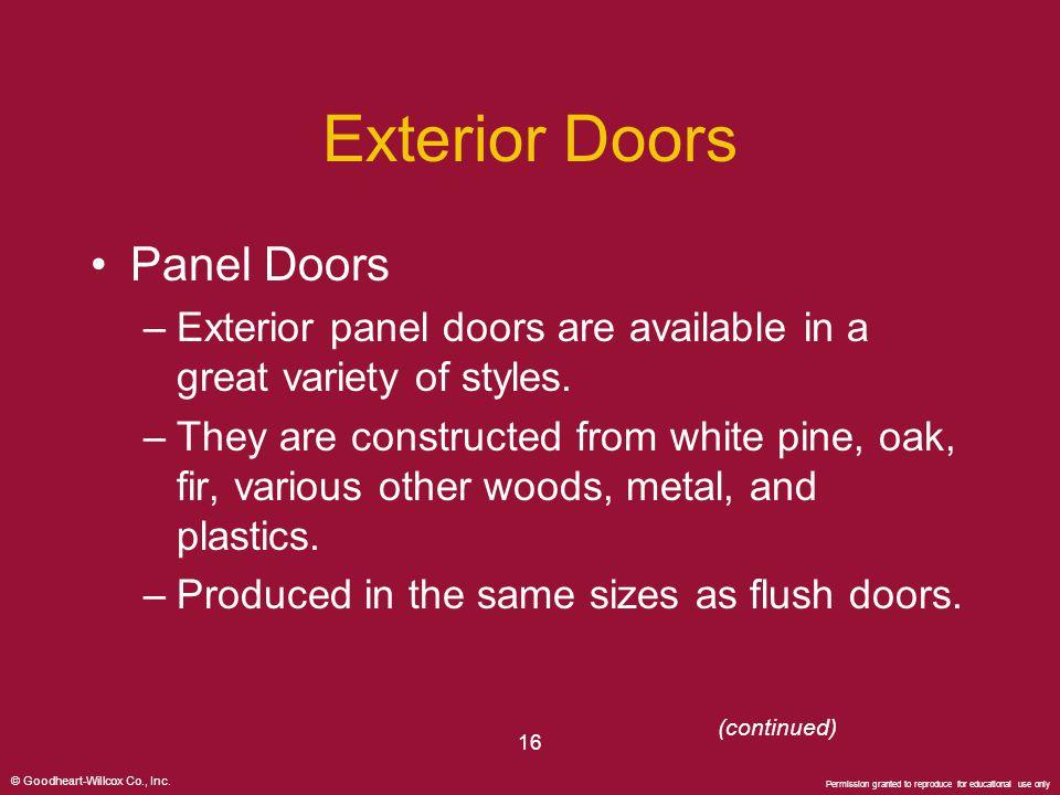 Exterior Doors Panel Doors
