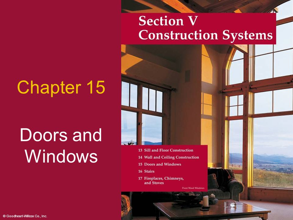 Chapter 15 Doors and Windows 2