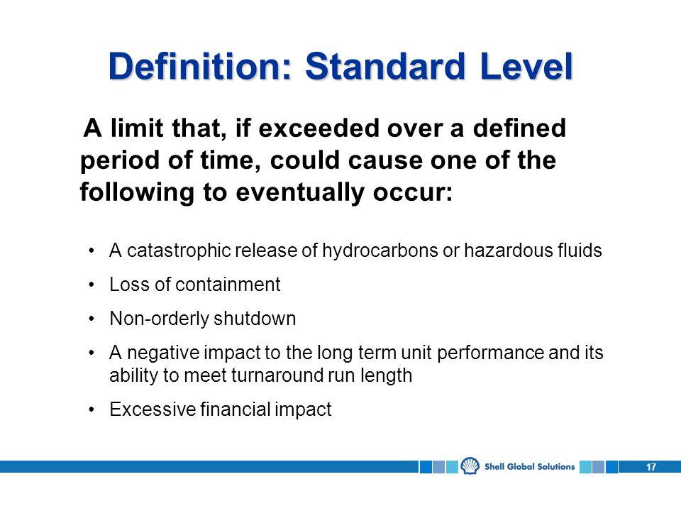 Definition: Standard Level