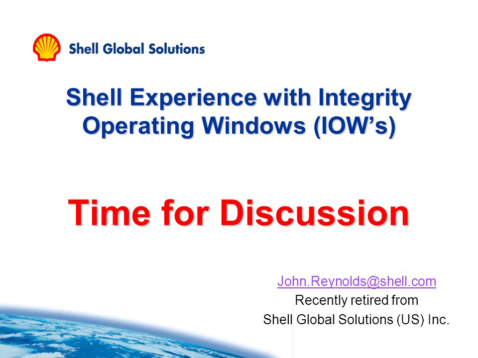 Shell Global Solutions (US) Inc.