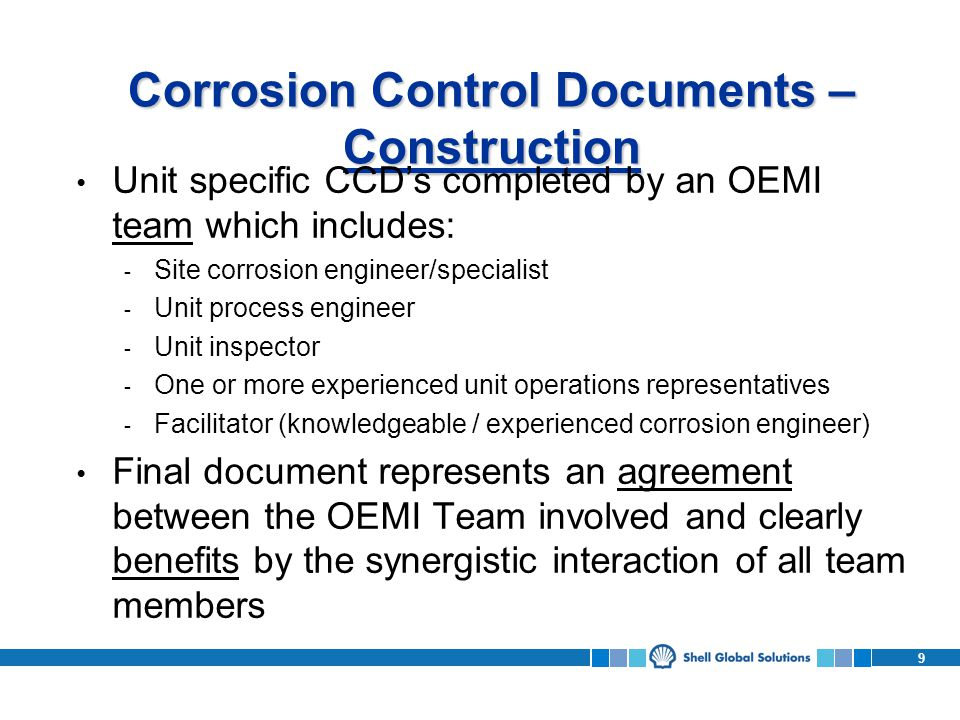 Corrosion Control Documents – Construction