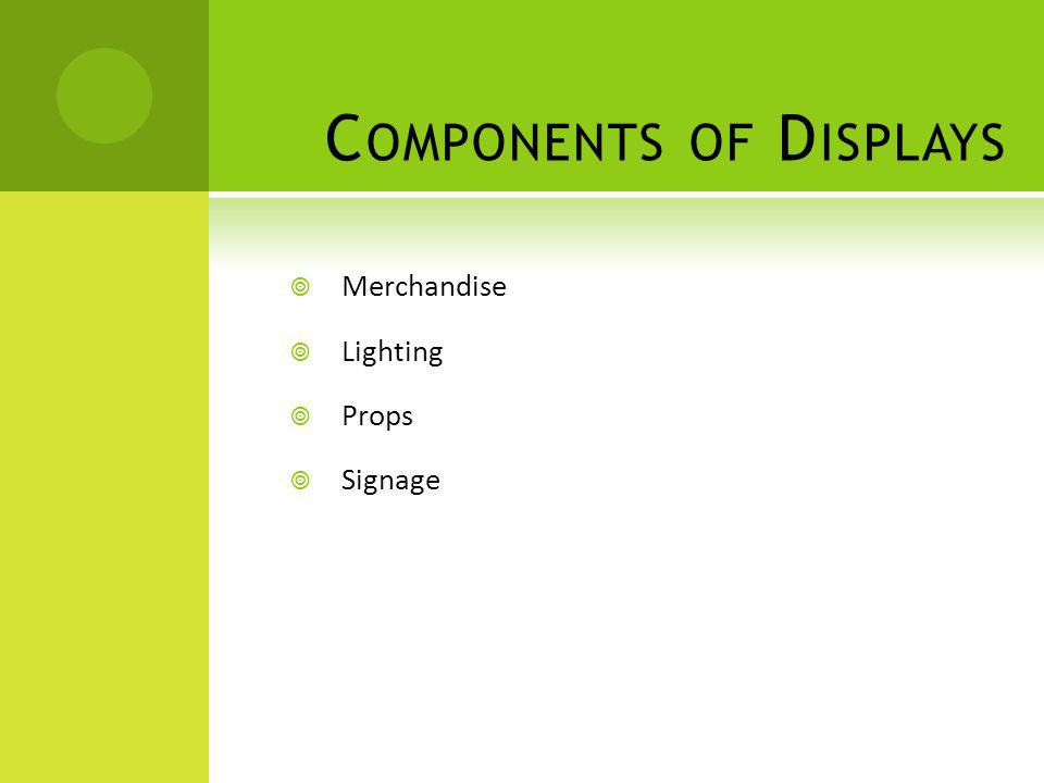 Components of Displays