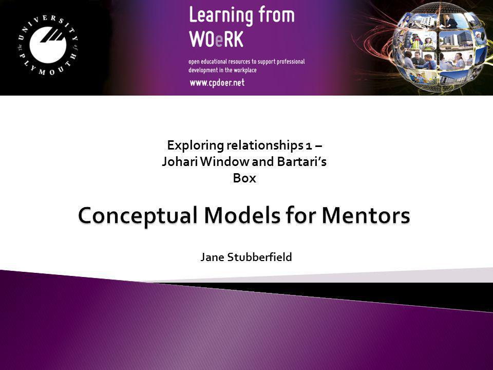 Conceptual Models for Mentors