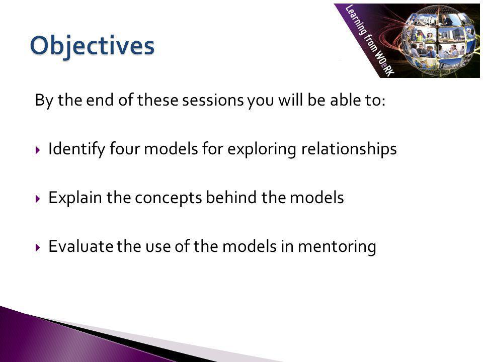 Objectives By the end of these sessions you will be able to: