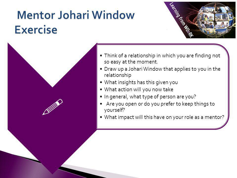 Mentor Johari Window Exercise