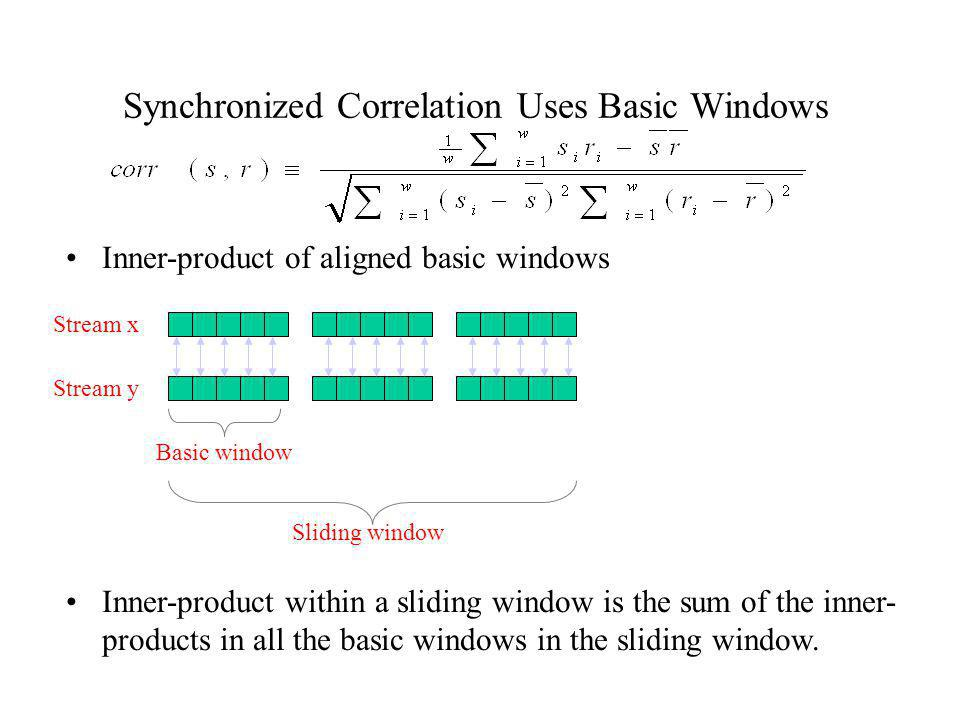 Synchronized Correlation Uses Basic Windows