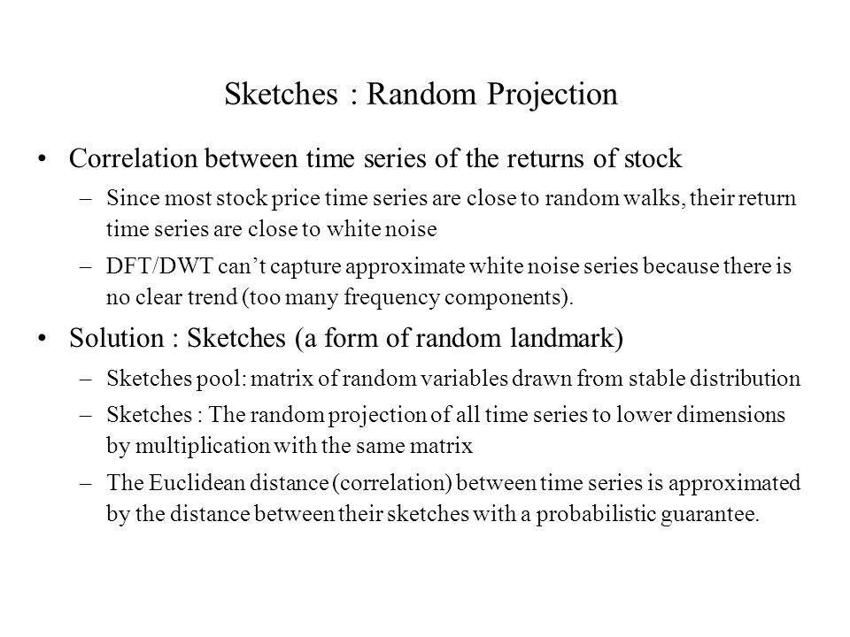 Sketches : Random Projection