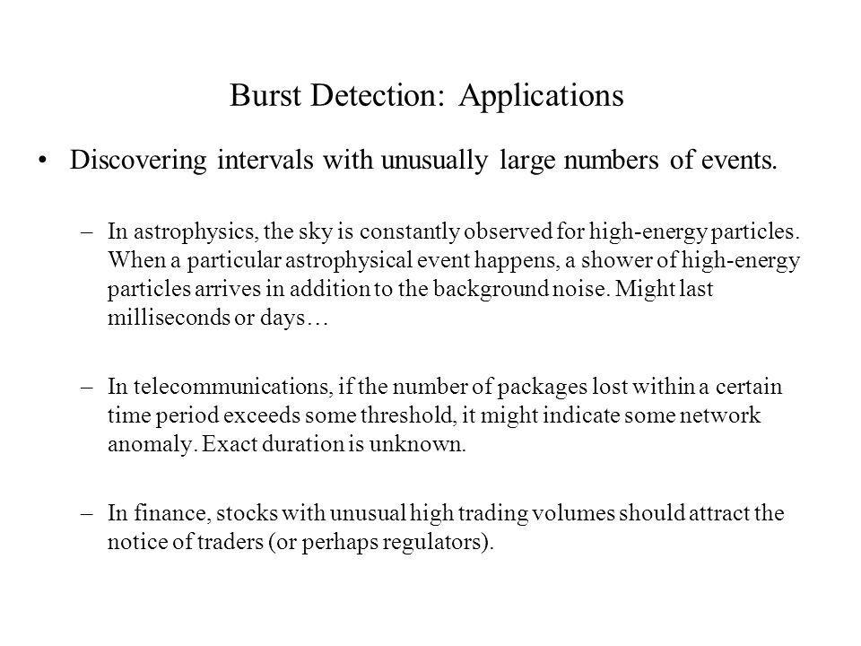 Burst Detection: Applications