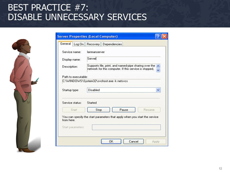 Best Practice #7: Disable unnecessary services
