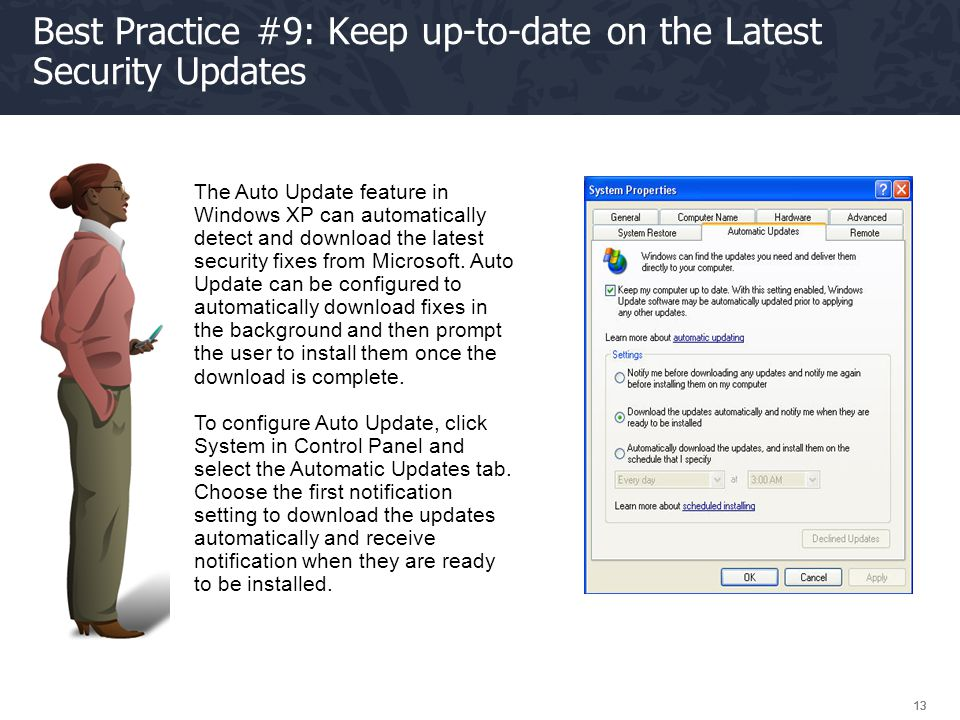 Best Practice #9: Keep up-to-date on the Latest Security Updates
