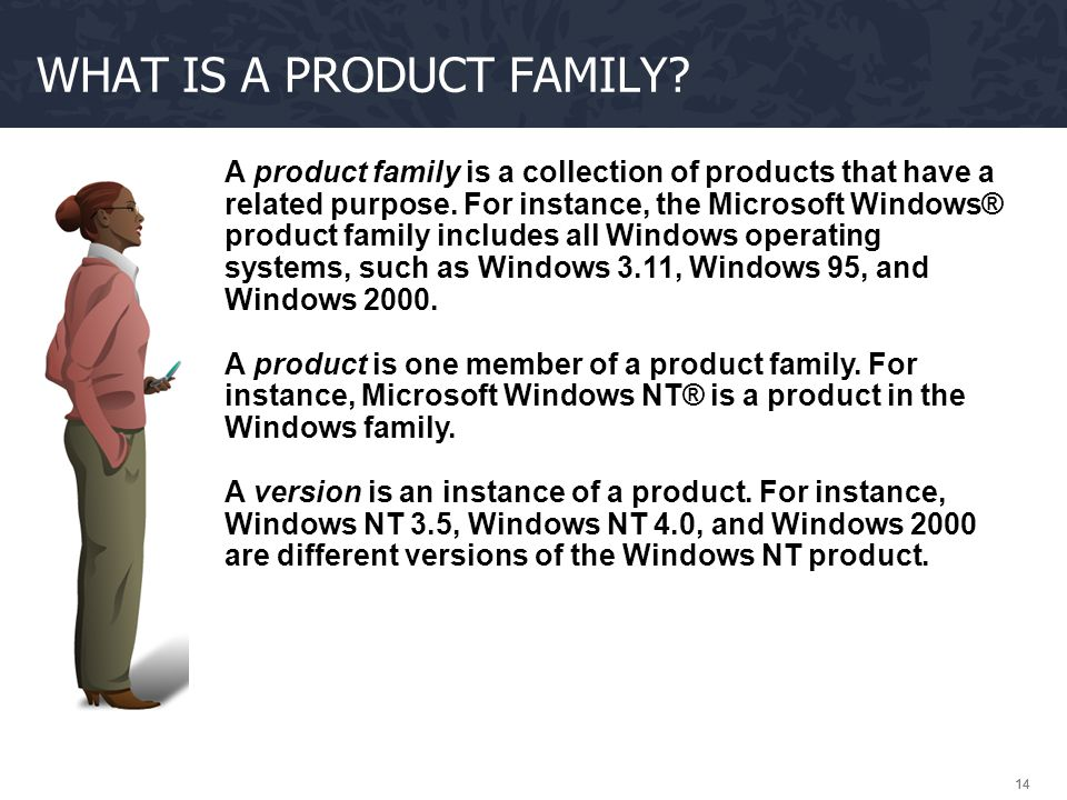 What is a product family