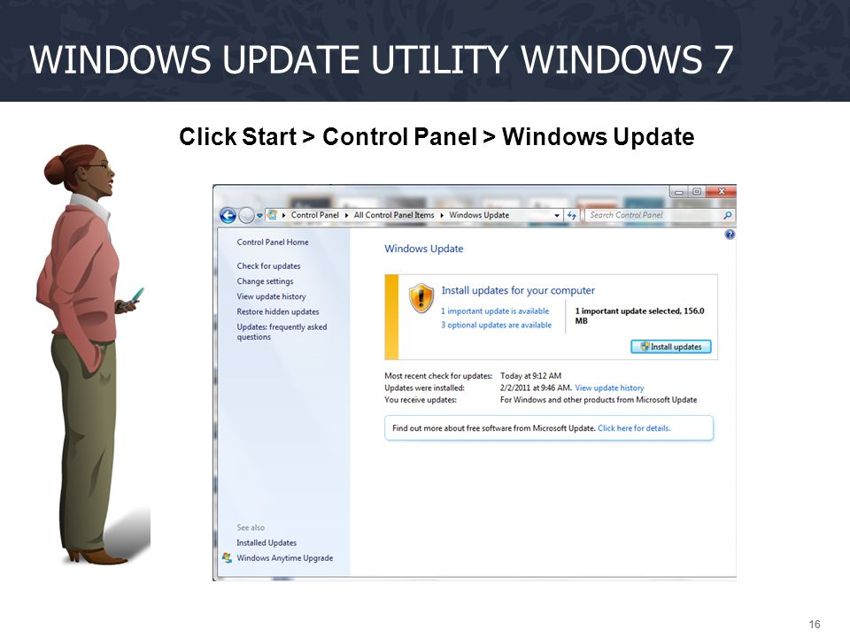 Windows update utility Windows 7