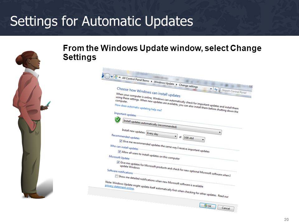 Settings for Automatic Updates