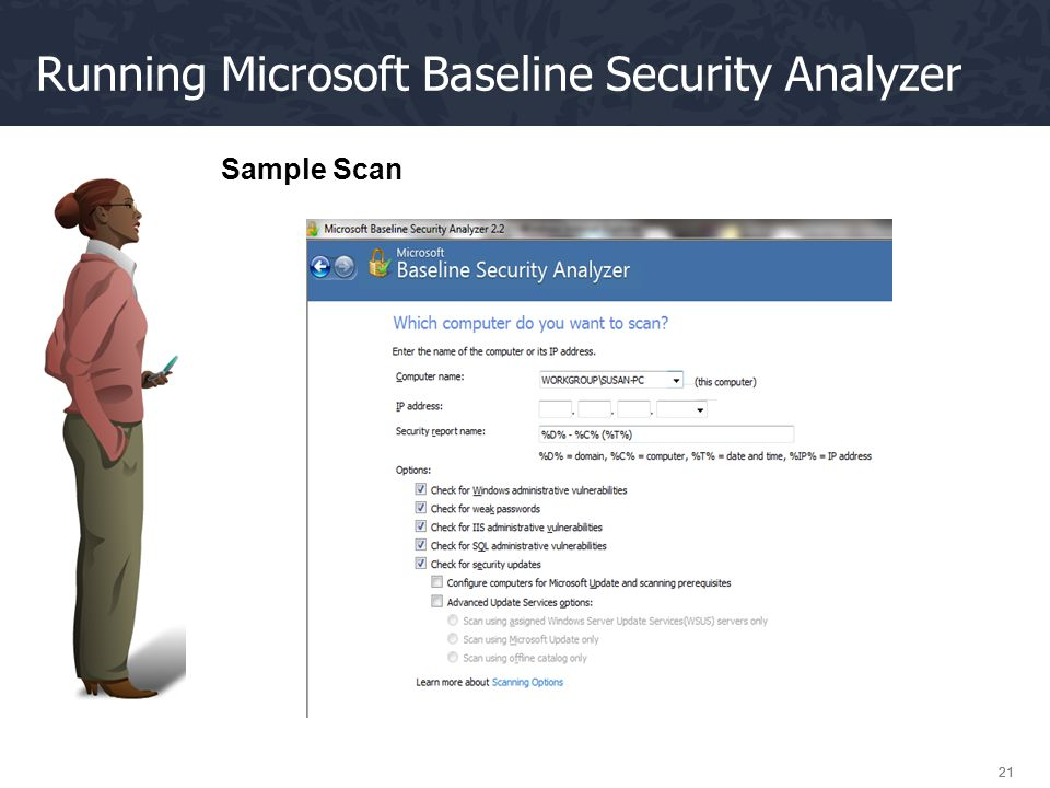 Running Microsoft Baseline Security Analyzer