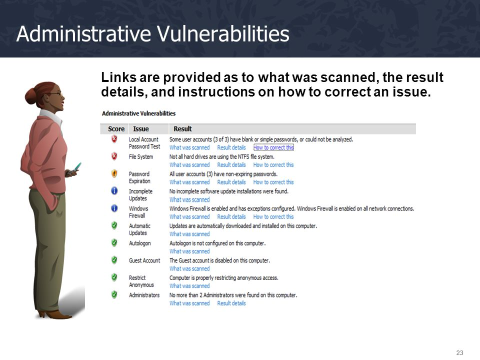 Administrative Vulnerabilities