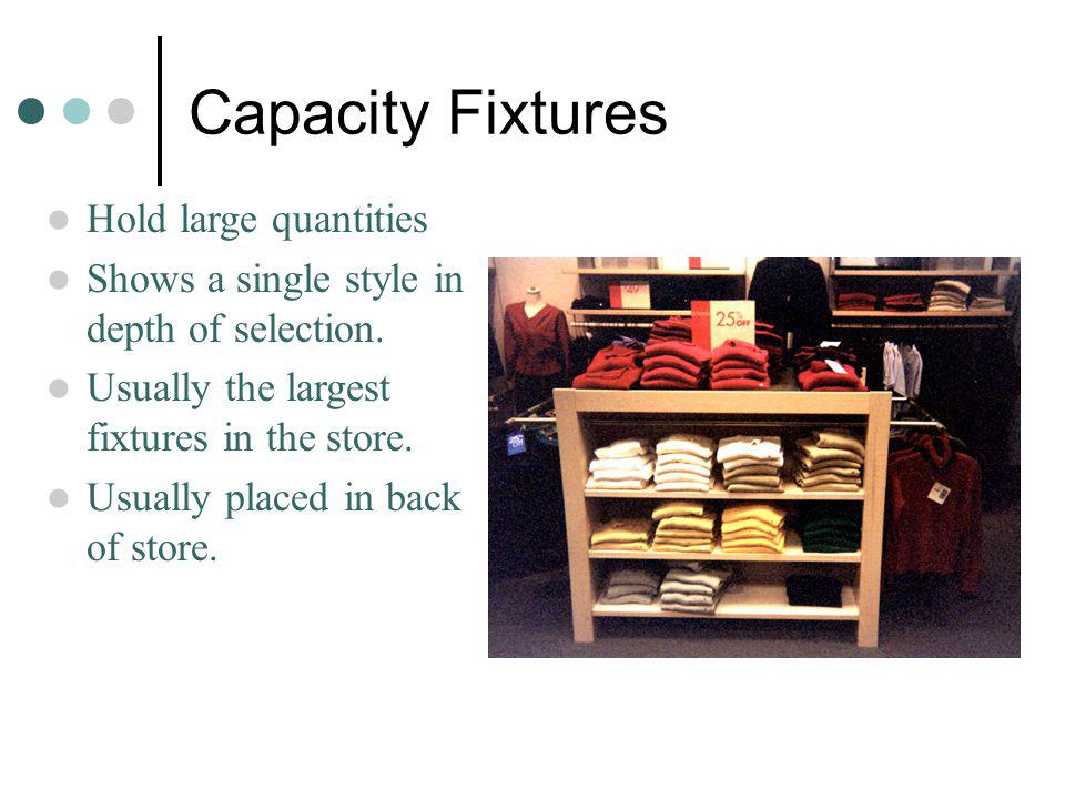 Capacity Fixtures Hold large quantities
