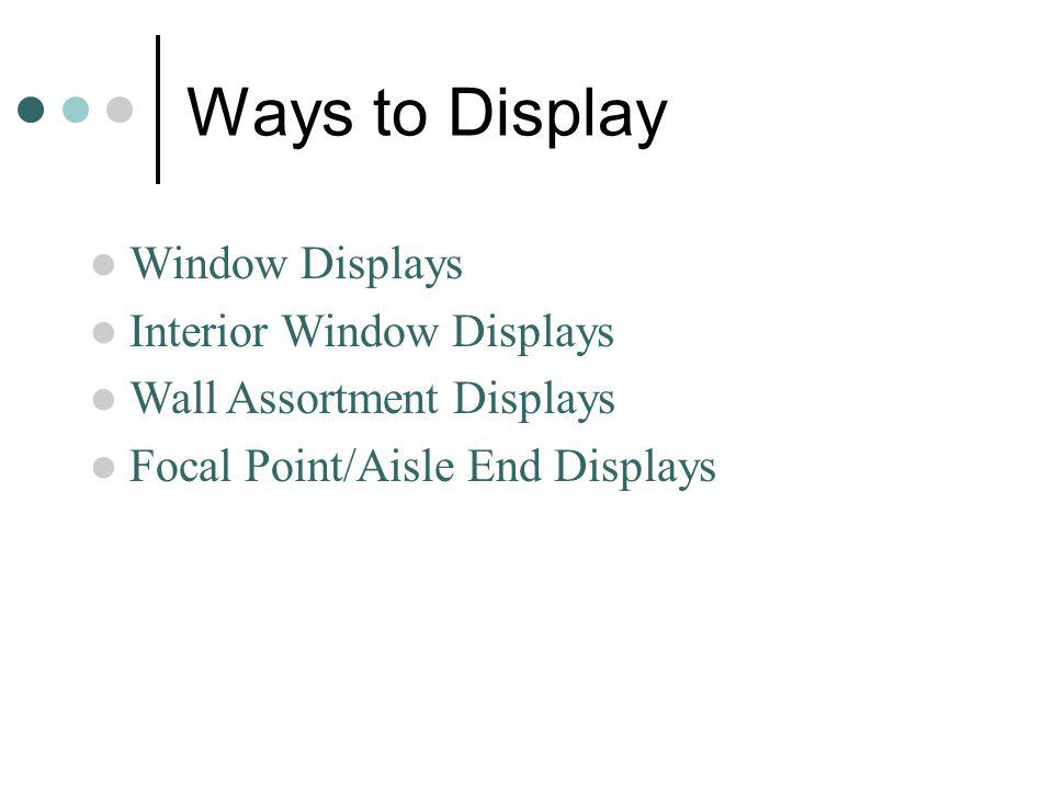Ways to Display Window Displays Interior Window Displays