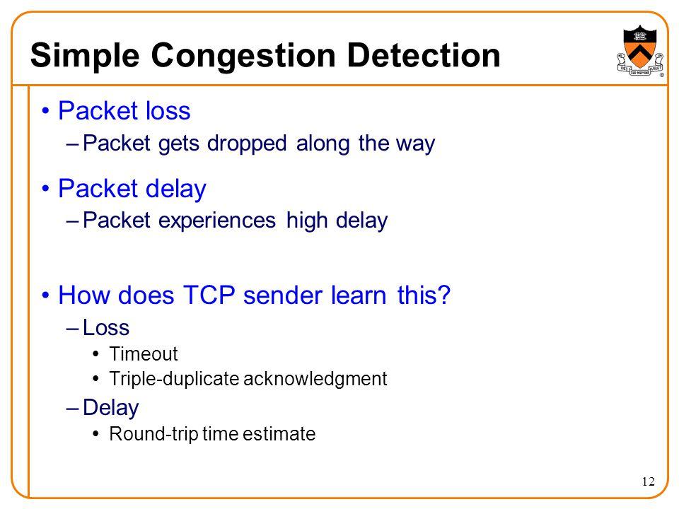 Simple Congestion Detection