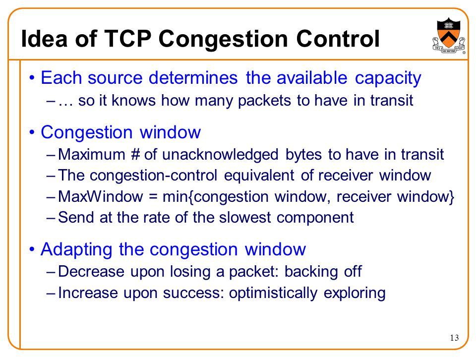 Idea of TCP Congestion Control