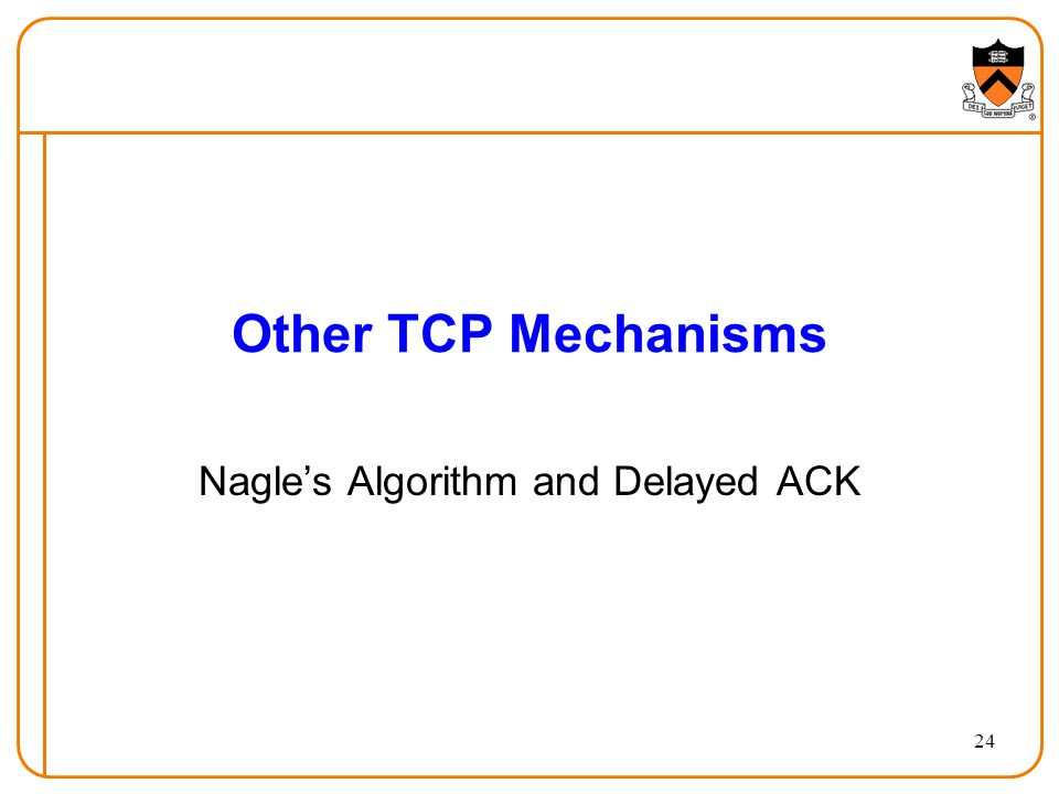 Nagle's Algorithm and Delayed ACK