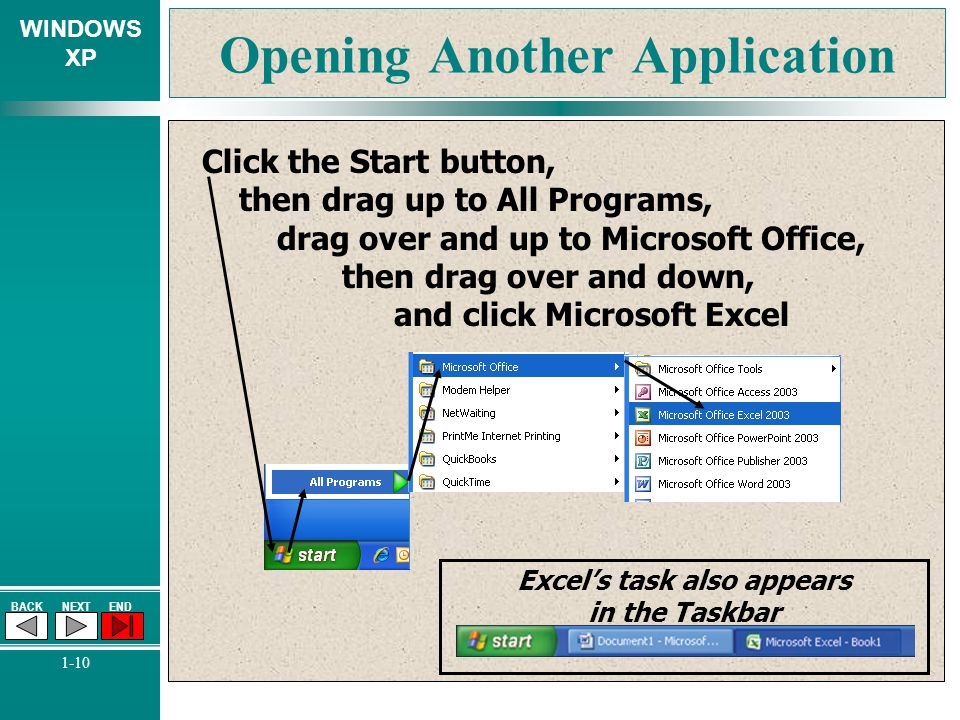 Opening Another Application