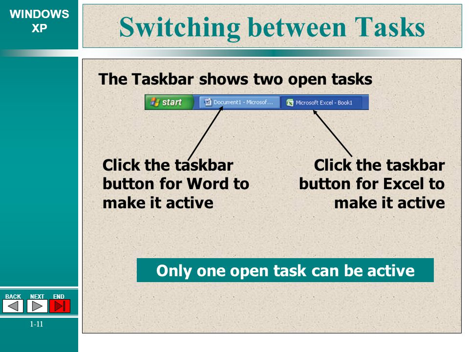 Switching between Tasks