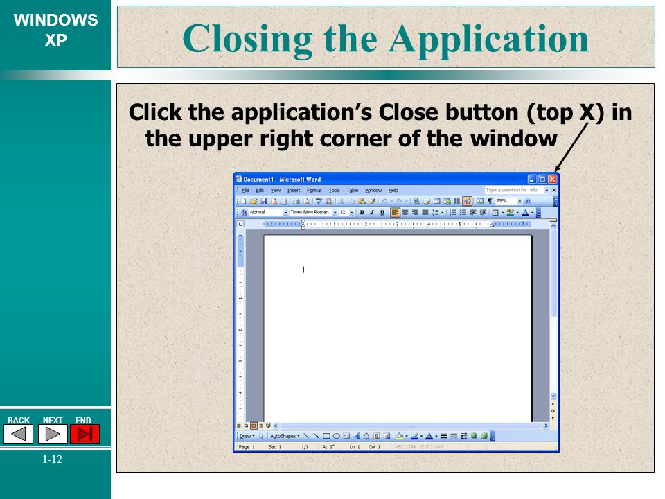 Closing the Application