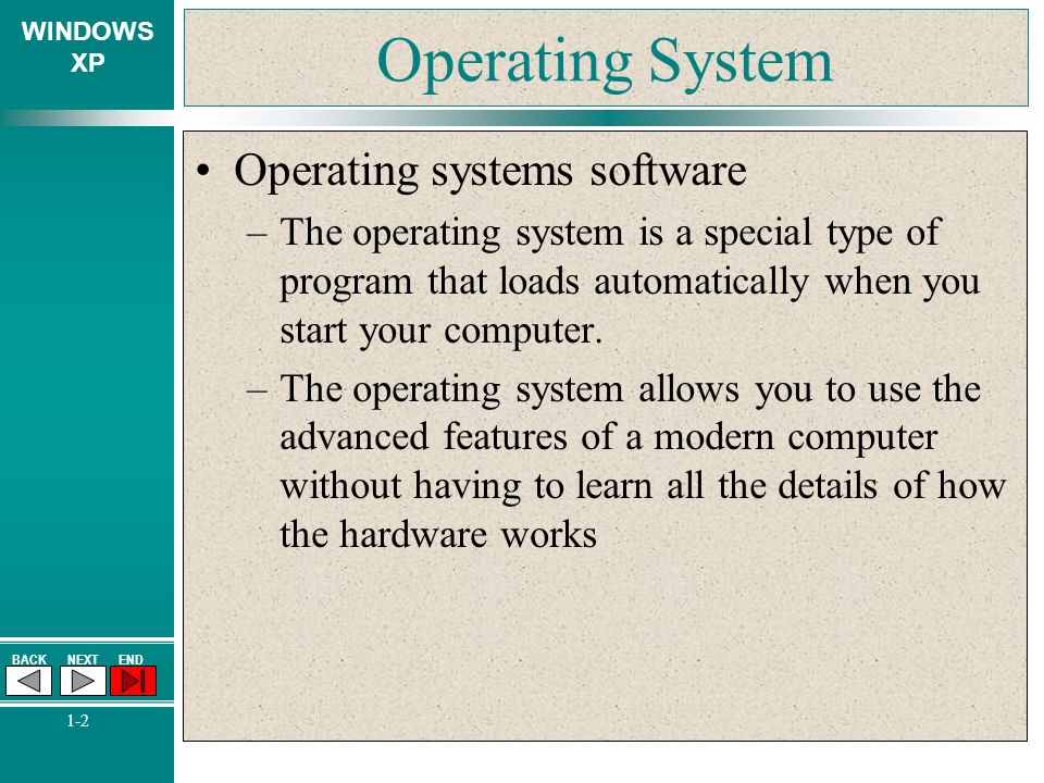 Operating System Operating systems software