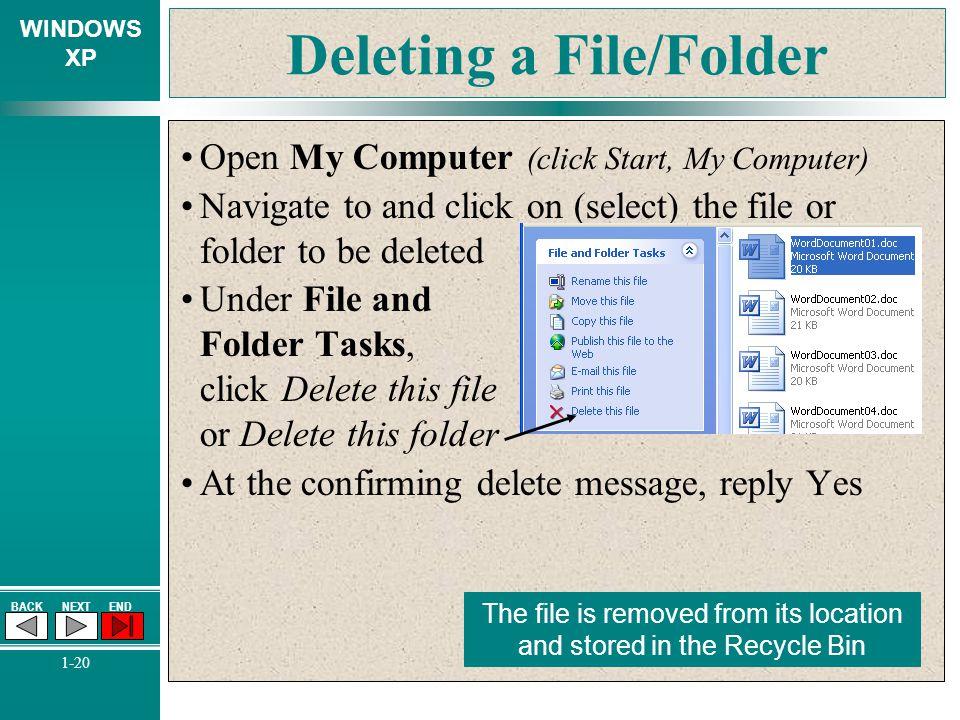 Deleting a File/Folder