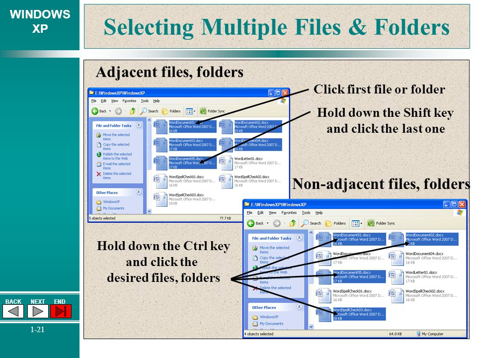 Selecting Multiple Files & Folders