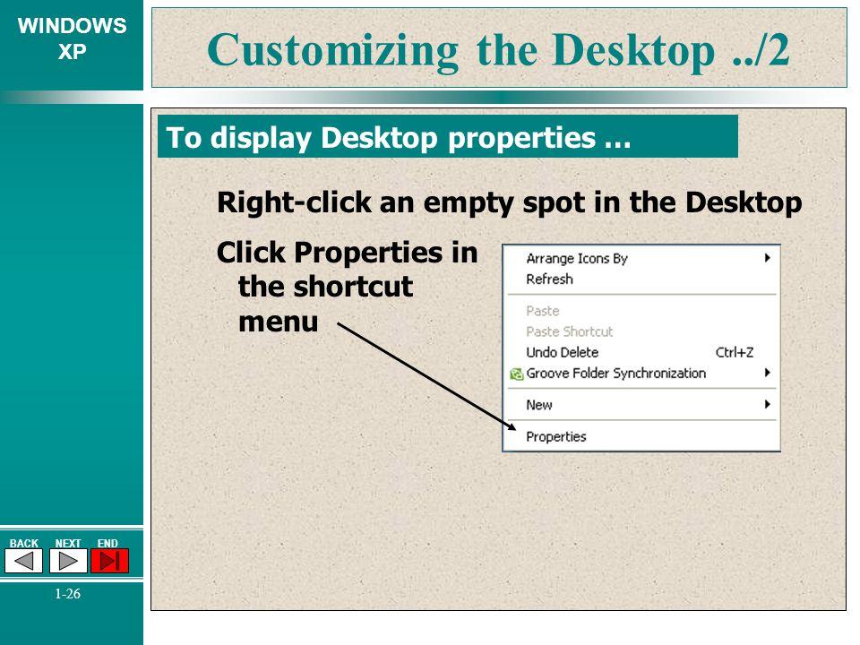 Customizing the Desktop ../2