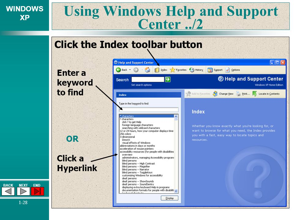 Using Windows Help and Support Center ../2