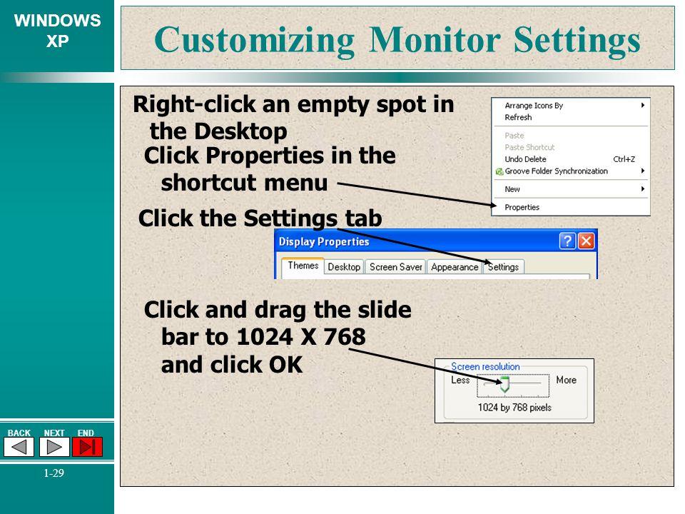 Customizing Monitor Settings