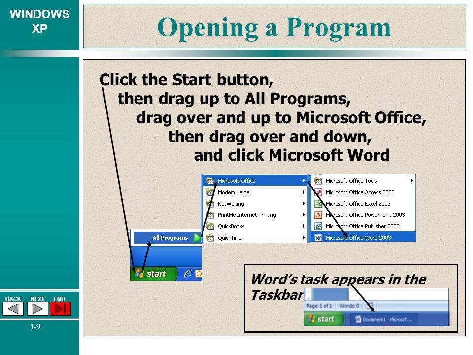 Opening a Program
