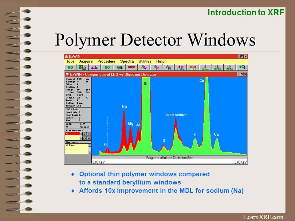 Polymer Detector Windows