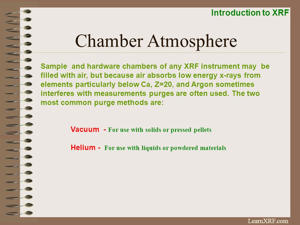 Chamber Atmosphere