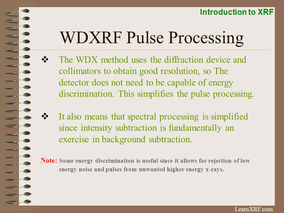 WDXRF Pulse Processing