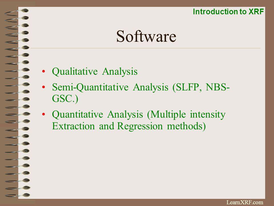 Software Qualitative Analysis