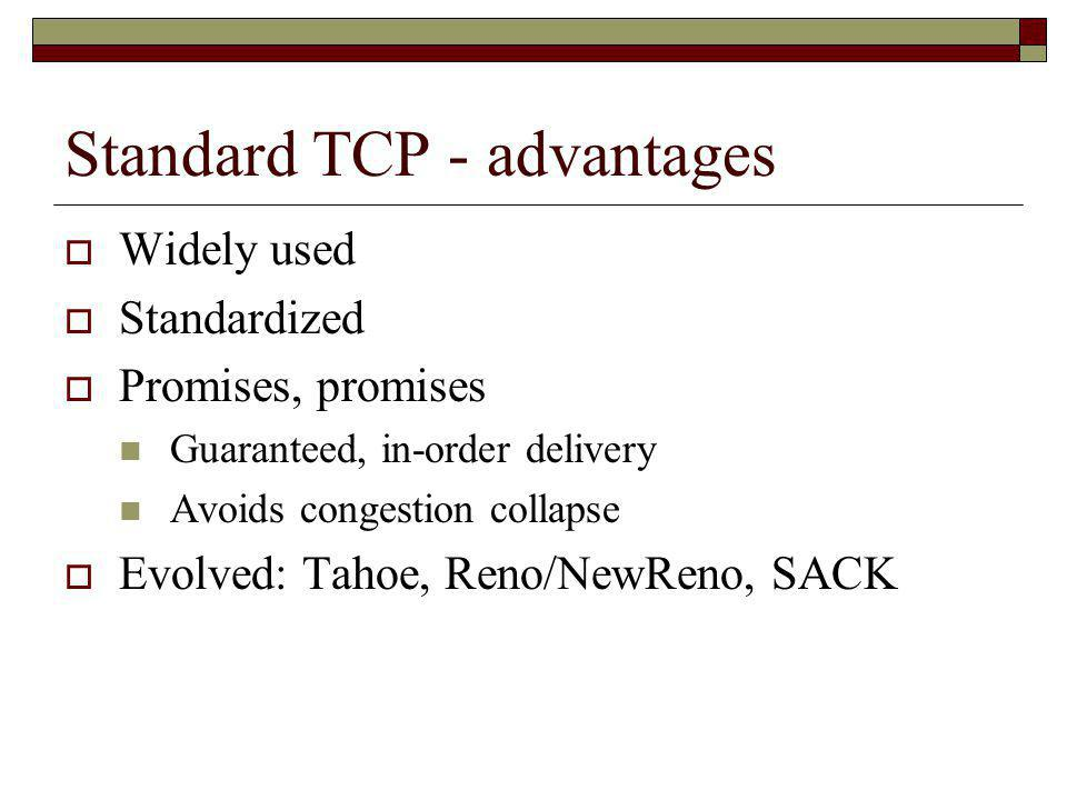 Standard TCP - advantages