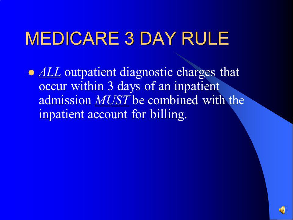 MEDICARE 3 DAY RULE