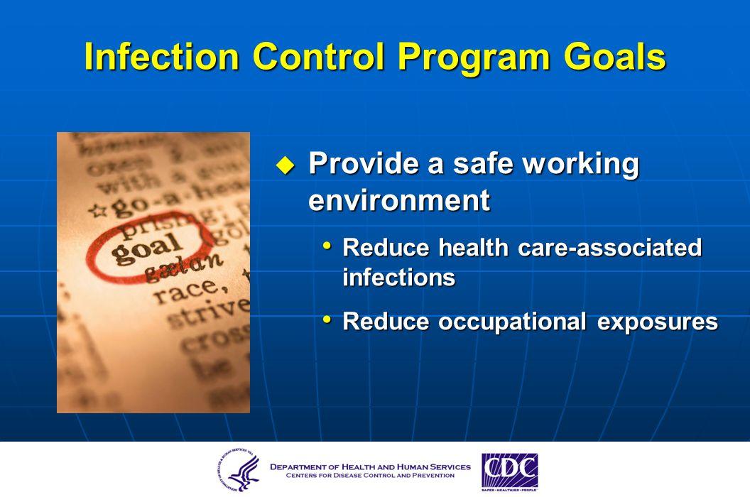 Infection Control Program Goals