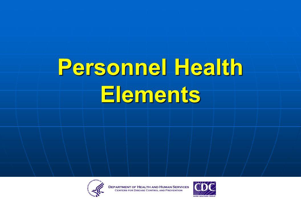Personnel Health Elements