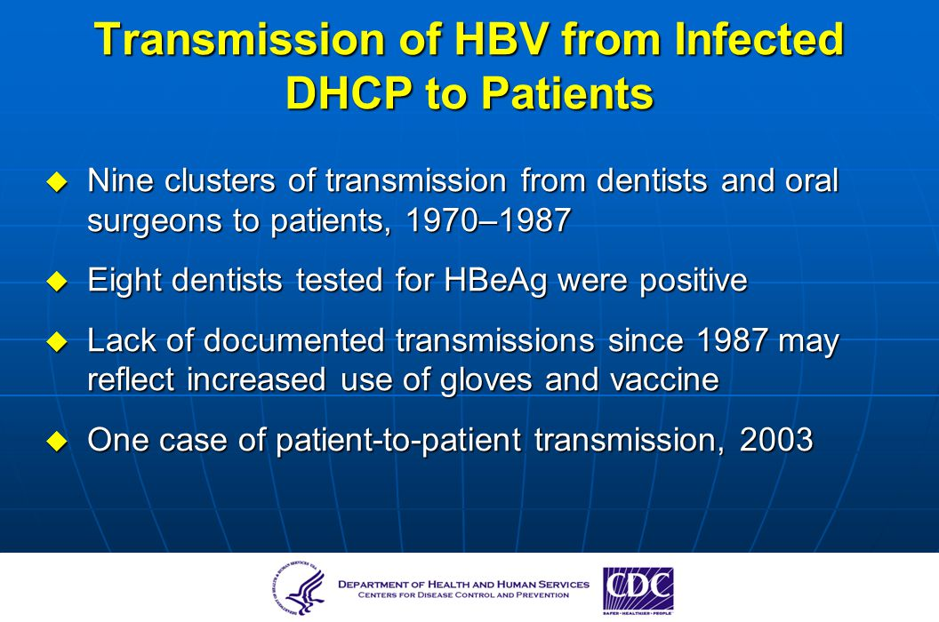 Transmission of HBV from Infected DHCP to Patients