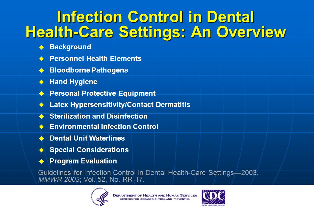 control of health care in the This information sheet discusses infection control measures for health care settings to ensure prompt detection, take airborne precautions, and treat persons with suspected or diagnosed tuberculosis infection.