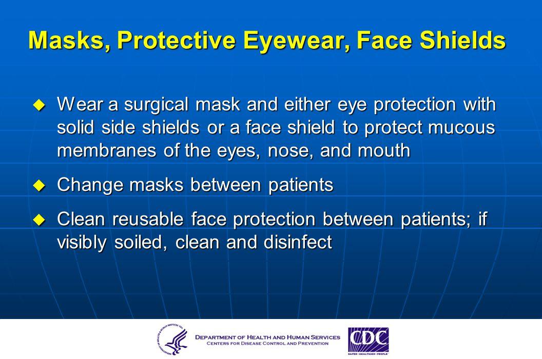 Masks, Protective Eyewear, Face Shields