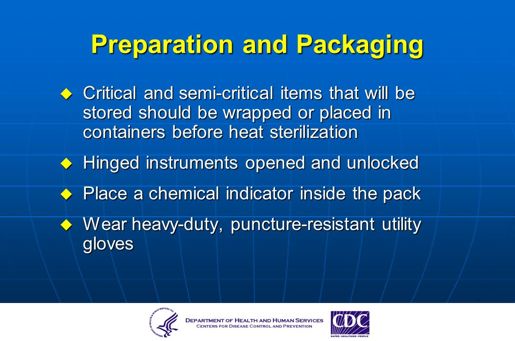Preparation and Packaging