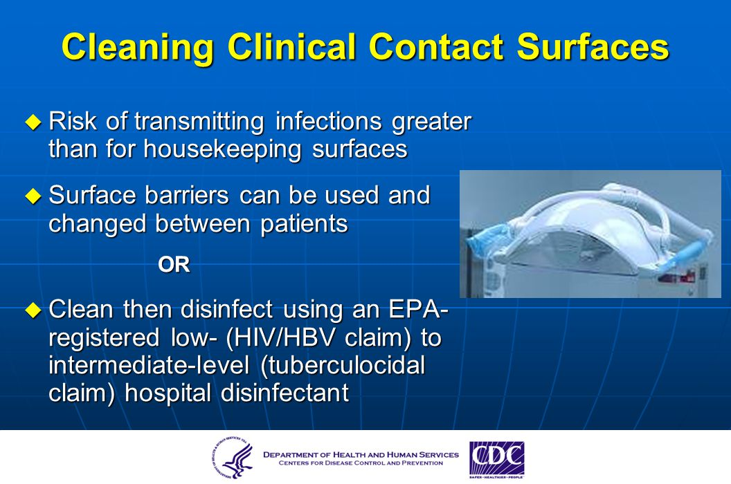 Cleaning Clinical Contact Surfaces
